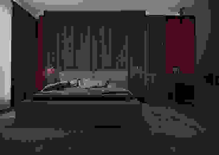 Nevi Studio Dormitorios de estilo moderno Madera Gris