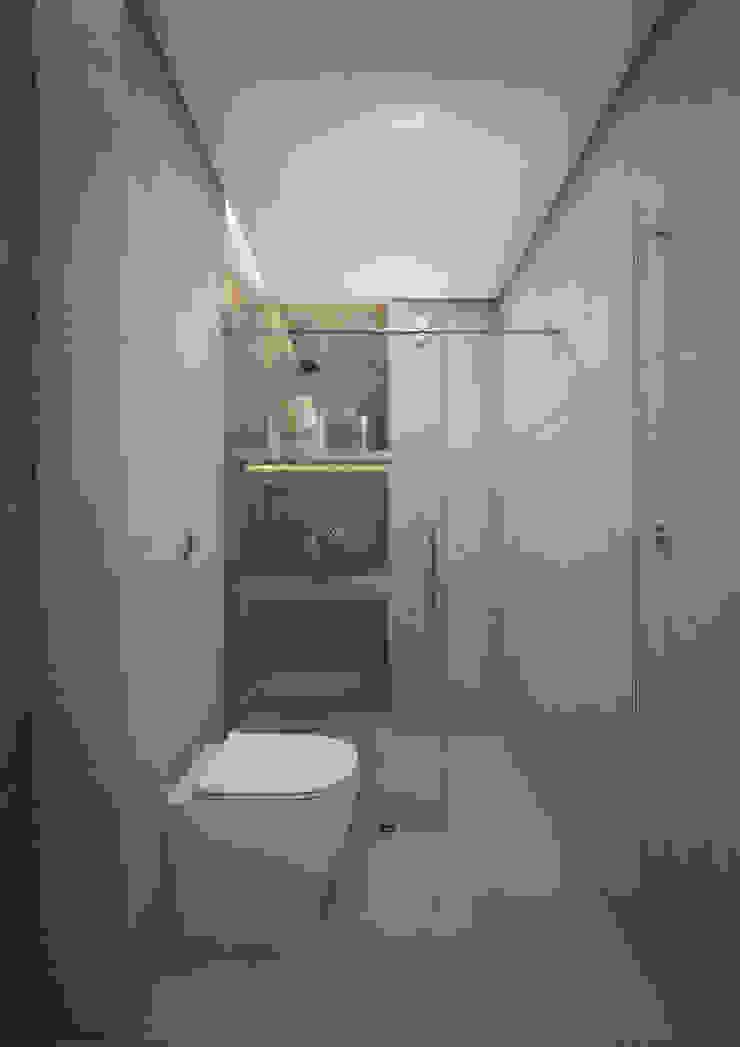 Nevi Studio Baños de estilo moderno Cerámico Gris
