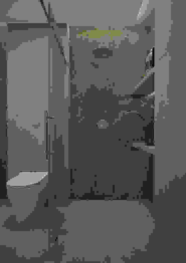 Nevi Studio Baños de estilo moderno Cuarzo Gris