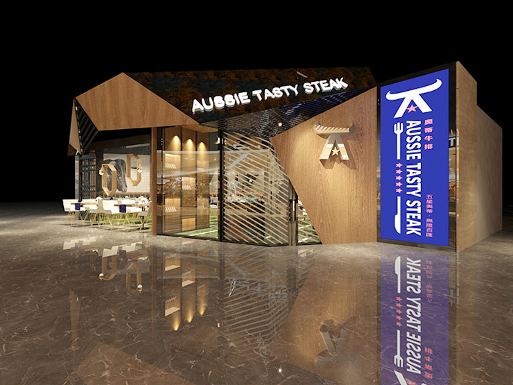 奧蒂牛排館門市室裝設計案 根據 辰居設計園 工業風 金屬