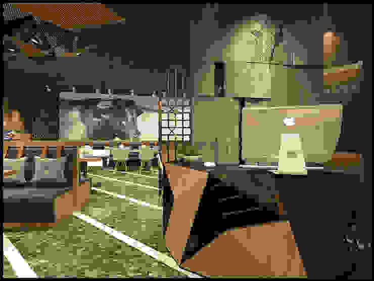 奧蒂牛排館門市室裝設計案 根據 辰居設計園 工業風 石板