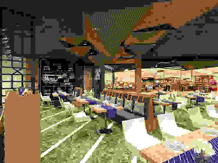 奧蒂牛排館門市室裝設計案 根據 辰居設計園 工業風 鐵/鋼
