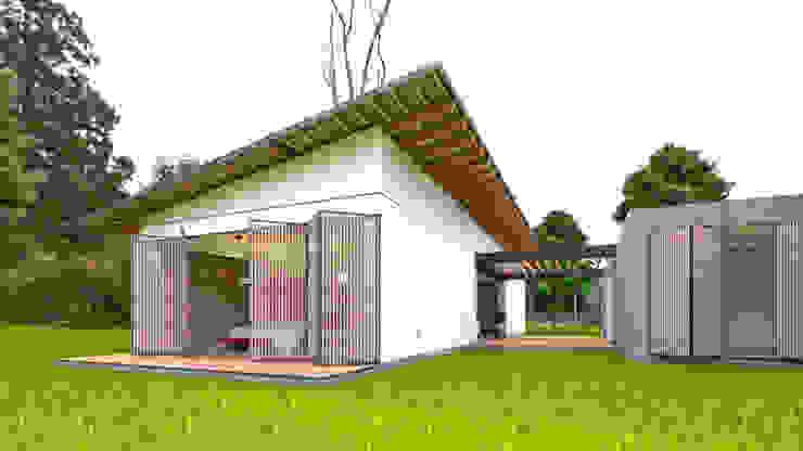 Vista Principal Habitaciones de estilo minimalista de Arquitecto Ricardo Gonzalez Minimalista Concreto