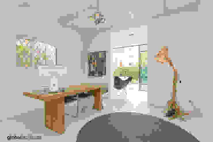Villa White Lodge Noordwijk Global Architects Industriële studeerkamer Hout Bruin