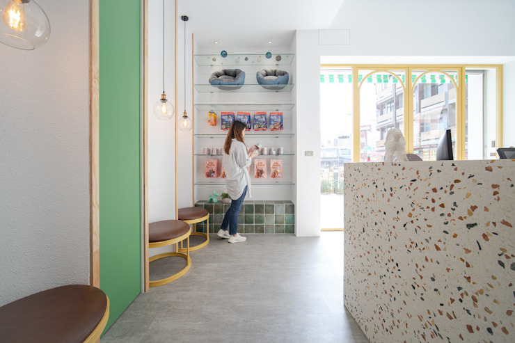 沐遇寵物沙龍 Mu Pet Salon | 候位區 有隅空間規劃所 Commercial Spaces Marble Multicolored