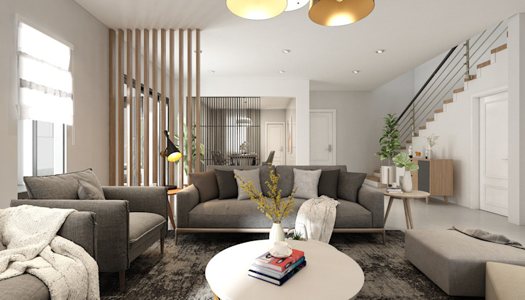 Serene Heights Semenyih YJ Design Studio Living room