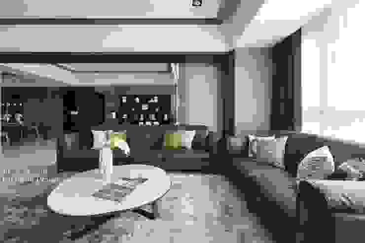 天晴空間設計│住宅空間│若山牧水‧嵐彩。 Modern Living Room by 天晴空間設計 Modern