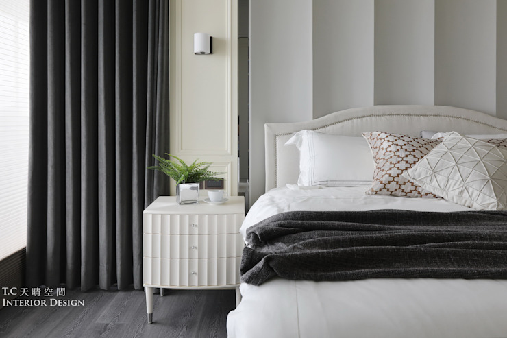 天晴空間設計│住宅空間│若山牧水‧嵐彩。 Modern Bedroom by 天晴空間設計 Modern