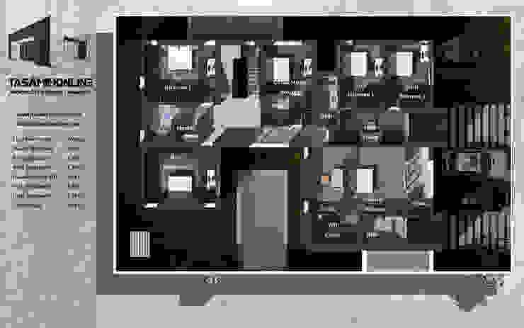 فيلا سكنية بمدينة جدة من Tasamim Online تصاميم أونلاين