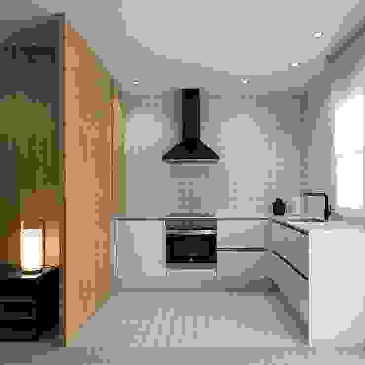 Cocina integrada MANUEL GARCÍA ASOCIADOS Cocinas de estilo moderno Blanco