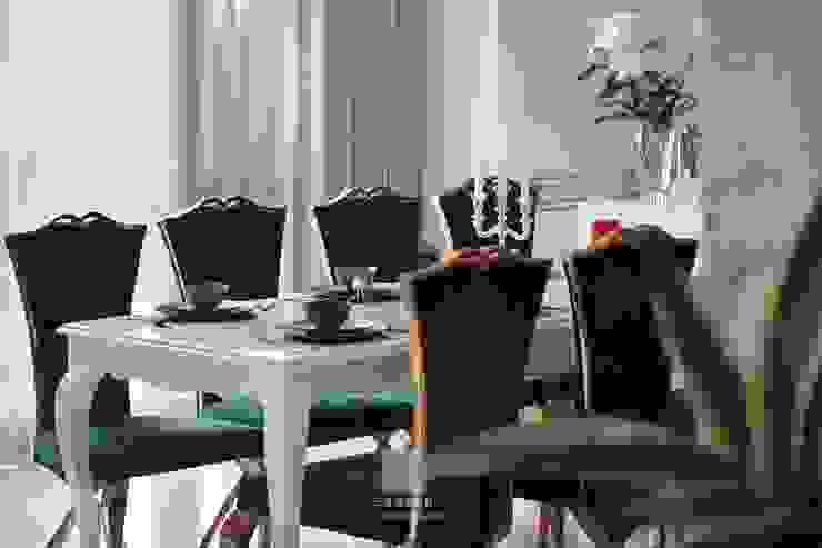 天晴空間設計│住宅空間│四季雅苑Le quattro stagioni Classic style dining room by 天晴空間設計 Classic