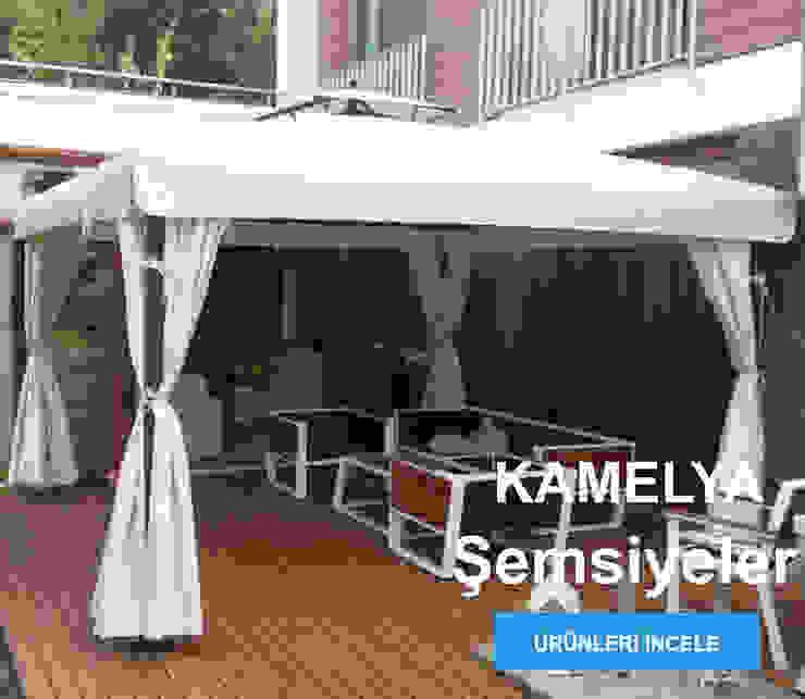 Akaydın şemsiye Gartenhaus Holz Weiß