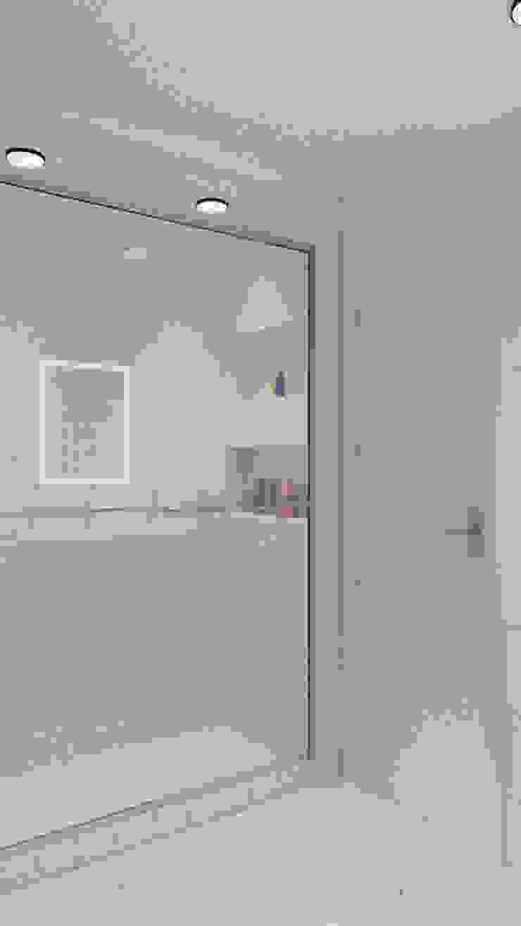 Clean, modern shower room Baños de estilo moderno de VARNODESIGN Moderno Azulejos