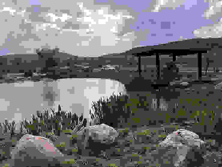 Hábitas บ่อน้ำในสวน หิน Blue