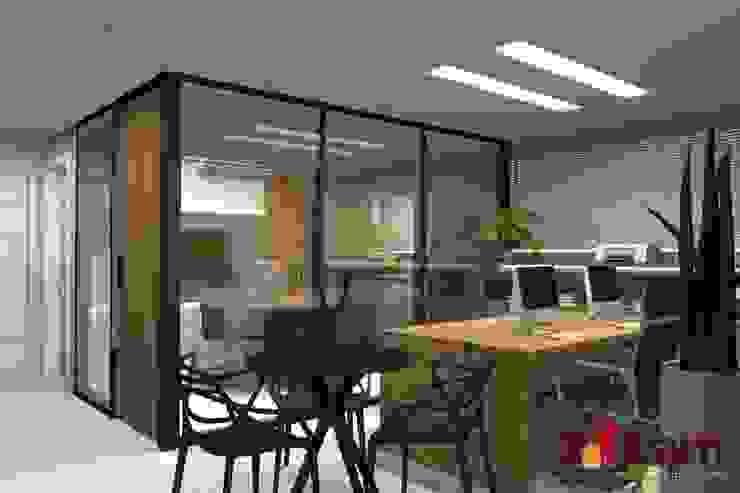 Escritório Pet Shop - Dogs Day Escritórios modernos por LAM Arquitetura | Interiores Moderno