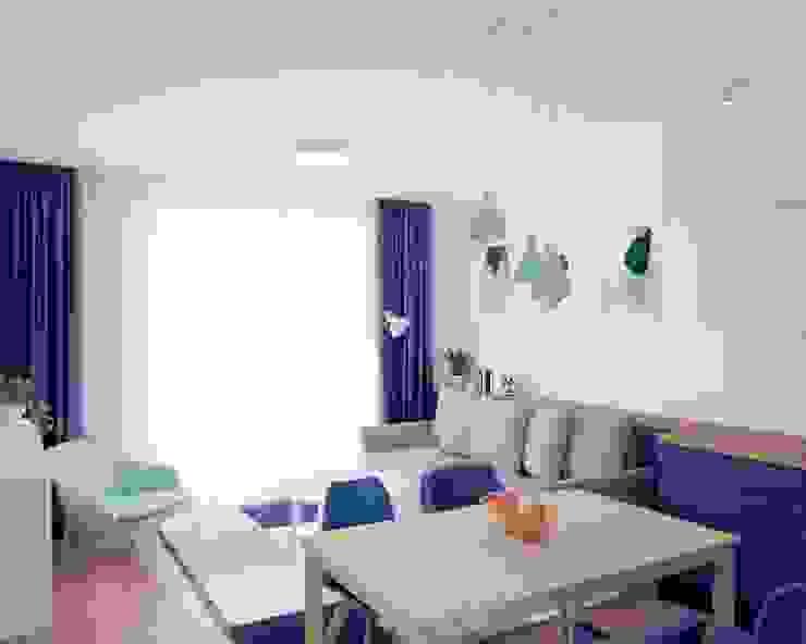 Anna Freier Architektura Wnętrz Modern living room Blue