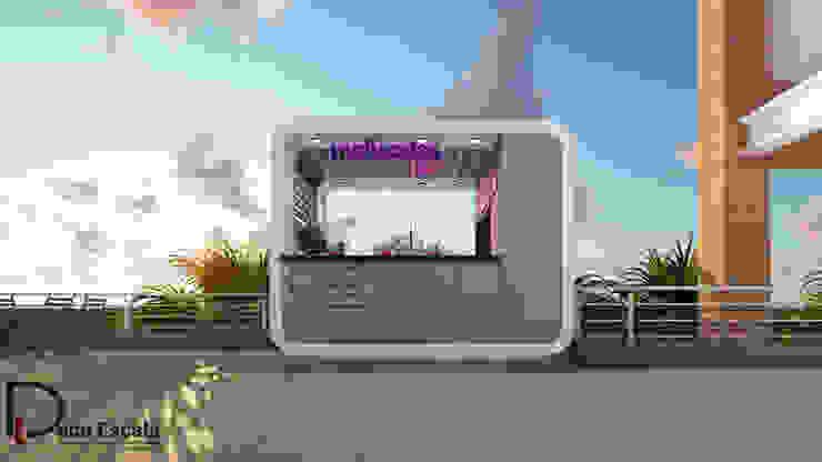 fachada Casas de estilo minimalista de DECOESCALA ARQ JHON LEAL Minimalista