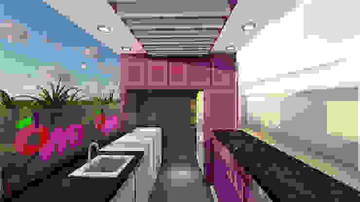 vista interior Oficinas de estilo minimalista de DECOESCALA ARQ JHON LEAL Minimalista