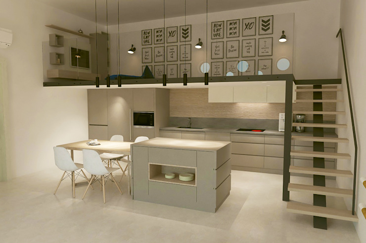 Kalya İç Mimarlık \ Kalya Interıor Desıgn Built-in kitchens Wood Wood effect