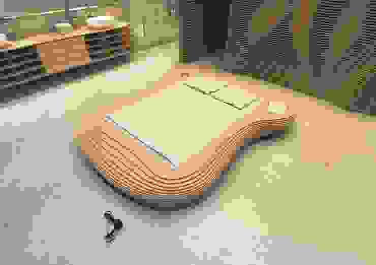 Bett Idra - Birke von form.bar Ausgefallen Holzwerkstoff Transparent