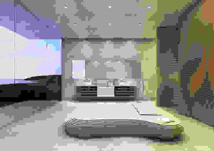 Bett Idra - Weiß von form.bar Ausgefallen Holzwerkstoff Transparent