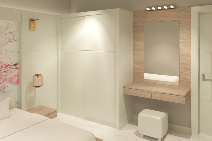 Yatak Odası - Gardrop Modern Yatak Odası Kalya İç Mimarlık \ Kalya Interıor Desıgn Modern Ahşap Ahşap rengi