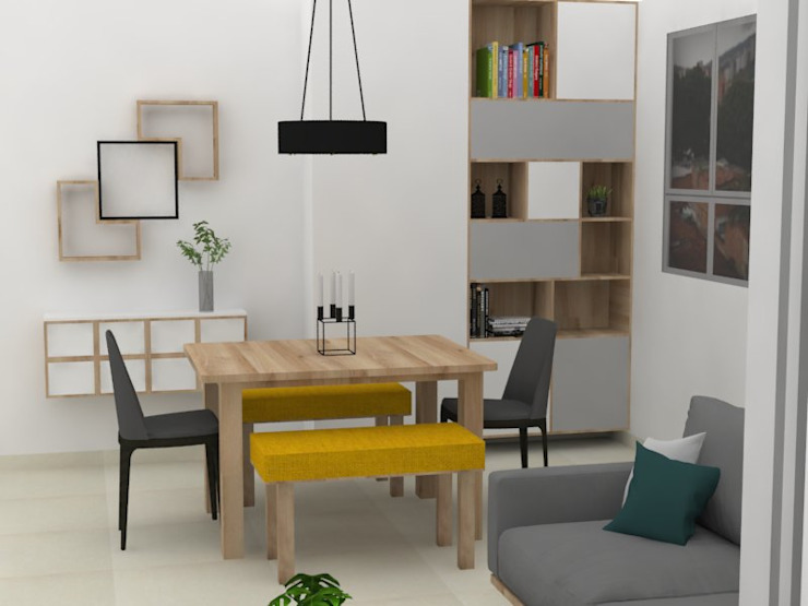 Diseño zona social apartamento Floresta de Decó ambientes a la medida Moderno