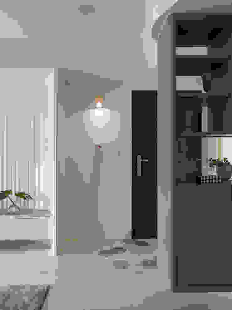 月 斯堪的納維亞風格的走廊,走廊和樓梯 根據 寓子設計 北歐風