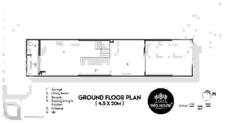 Thiết kế nhà phố 3 tầng hiện đại 4x20m độc đáo tại Tphcm NEOHouse