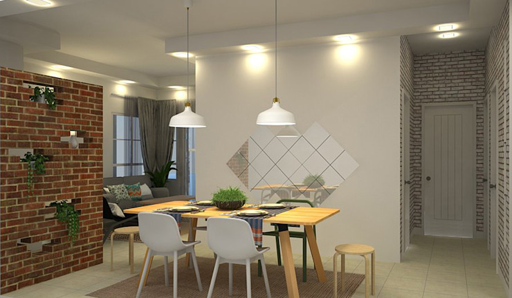 FH Residence MZH Design Scandinavian style dining room