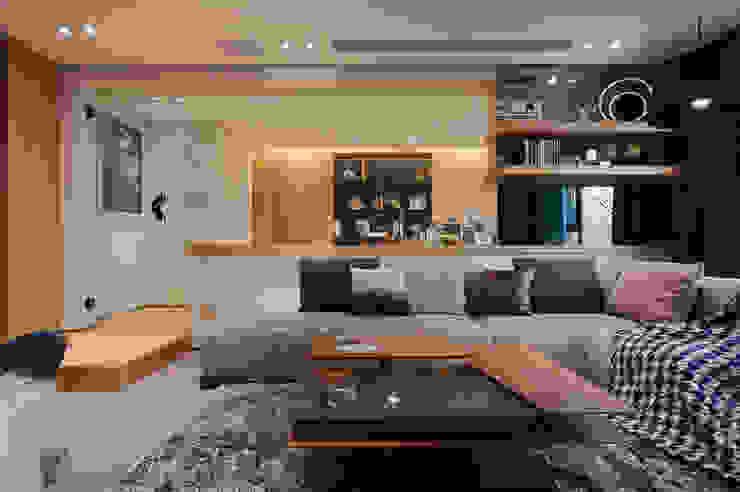 客廳 Living room 现代客厅設計點子、靈感 & 圖片 根據 隱上設計 現代風