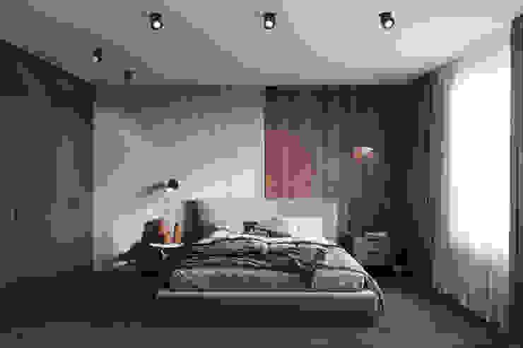 Студия архитектуры и дизайна Дарьи Ельниковой Minimalist bedroom