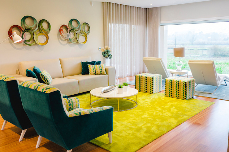 TRAÇO 8 INTERIORES Living roomSofas & armchairs Textile Green