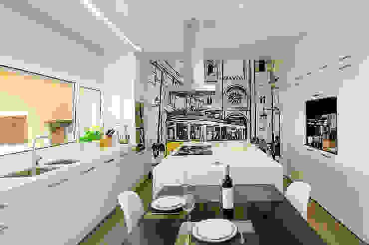 TRAÇO 8 INTERIORES KitchenCabinets & shelves Wood-Plastic Composite White
