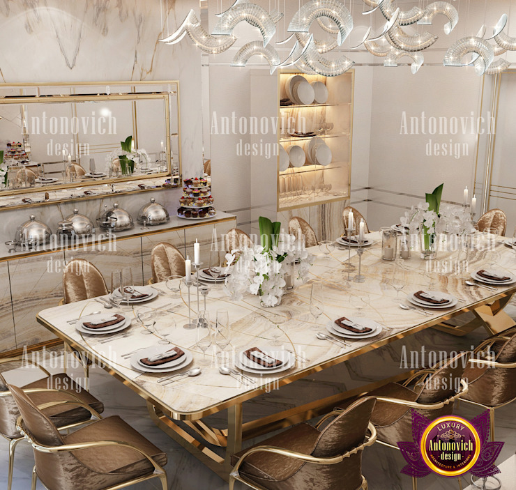 Tips for decorating a dining room by Luxury Antonovich Design