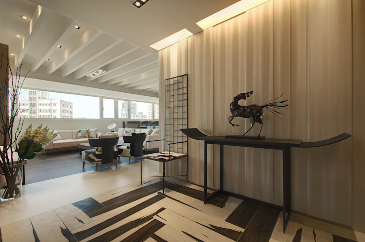 野性呼喚 現代風玄關、走廊與階梯 根據 拾雅客空間設計 現代風 合板