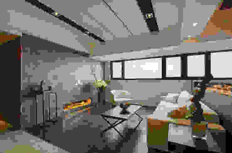 無限與線 现代客厅設計點子、靈感 & 圖片 根據 拾雅客空間設計 現代風 大理石