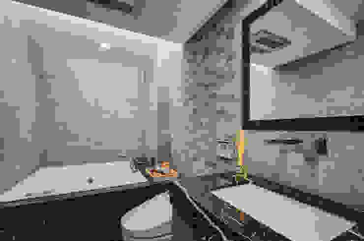 無限與線 現代浴室設計點子、靈感&圖片 根據 拾雅客空間設計 現代風 大理石