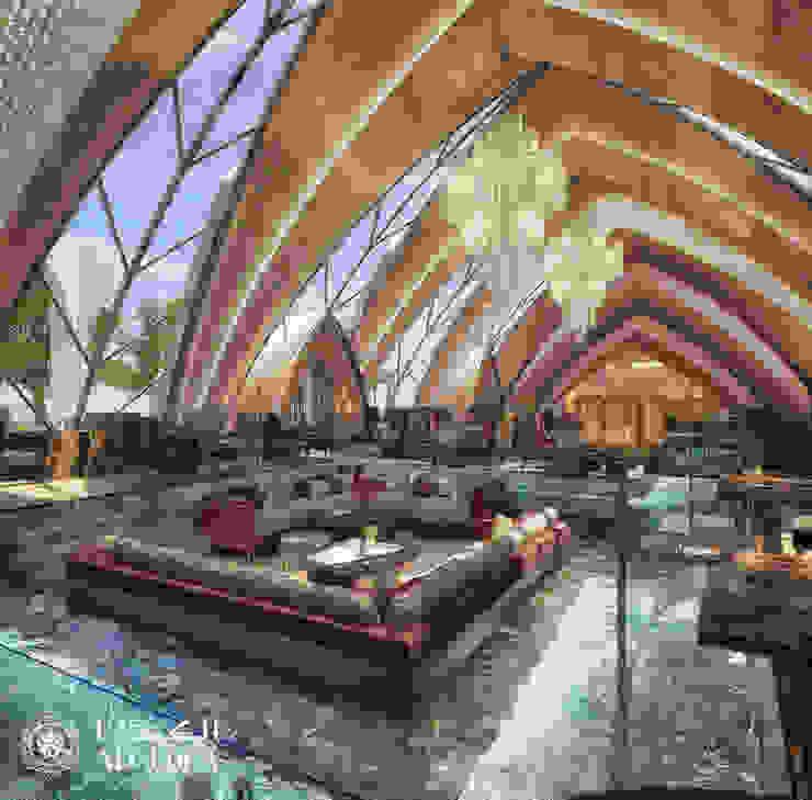 تصميم داخلي لمطعم فاخر من Algedra Interior Design حداثي