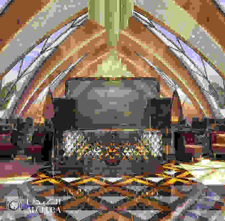 تصميم منطقة الإستقبال بمطعم فاخر من Algedra Interior Design حداثي