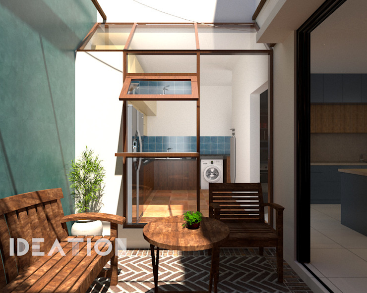 Villa Remodelling - Bangalore by Ideation Design Minimalist Bricks