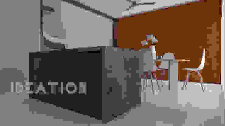 Minimalist dining room by homify Minimalist Stone