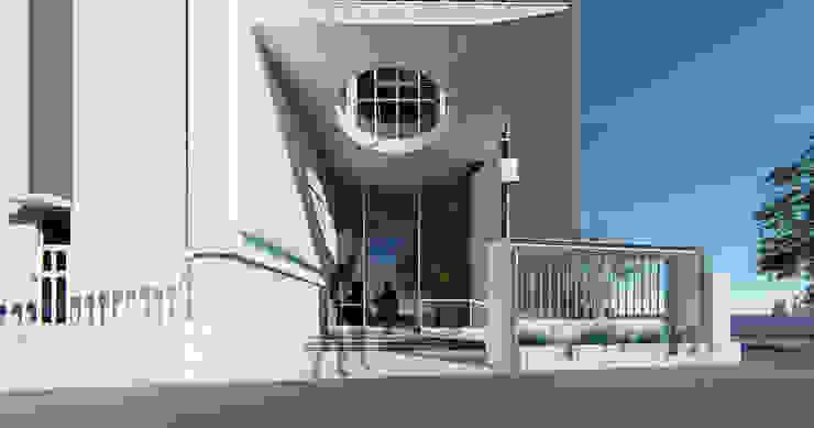 精密廠房新建案 現代風玄關、走廊與階梯 根據 尋樸建築師事務所 現代風