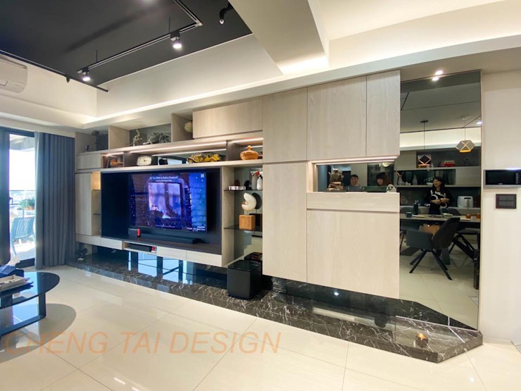 Cheng Tai Design 现代客厅設計點子、靈感 & 圖片 根據 澄太空間設計 現代風