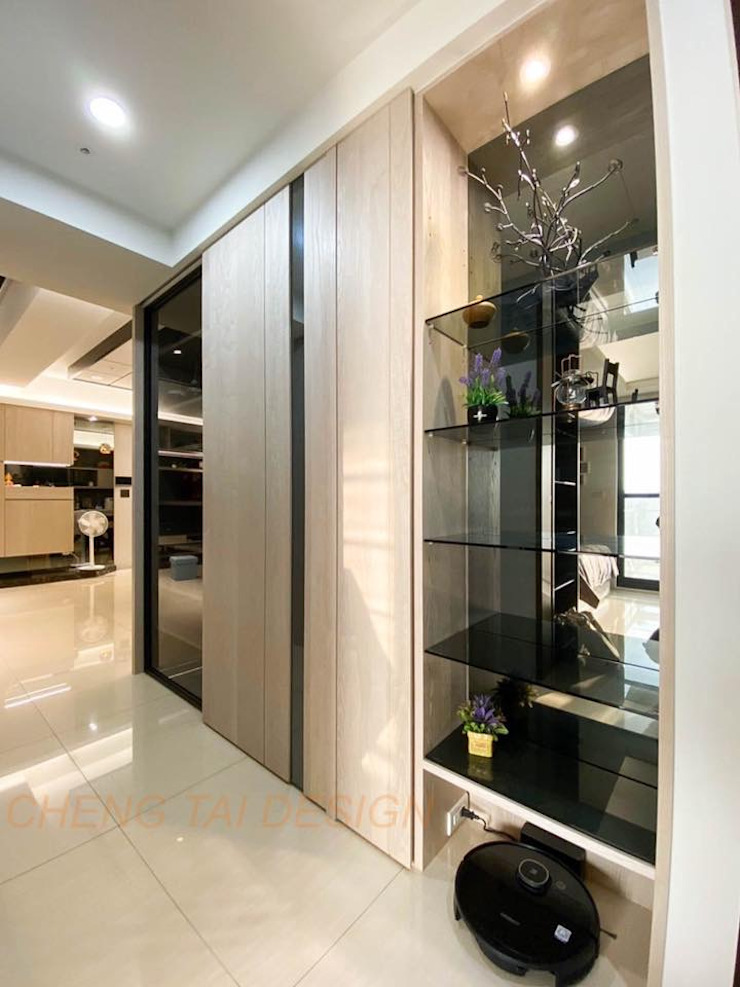 Cheng Tai Design 現代風玄關、走廊與階梯 根據 澄太空間設計 現代風