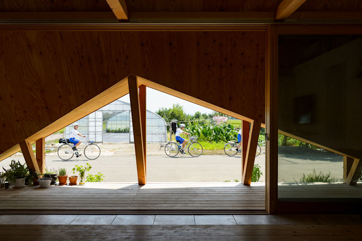 Takeru Shoji Architects.Co.,Ltd Scandinavian style windows & doors