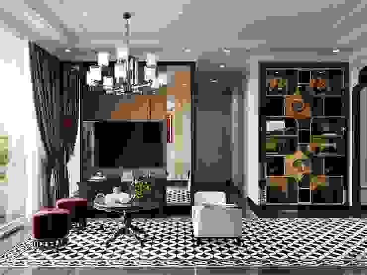 Nghệ thuật thiết kế nội thất - Phong cách cho người nghệ sĩ Phòng khách phong cách châu Á bởi ICON INTERIOR Châu Á