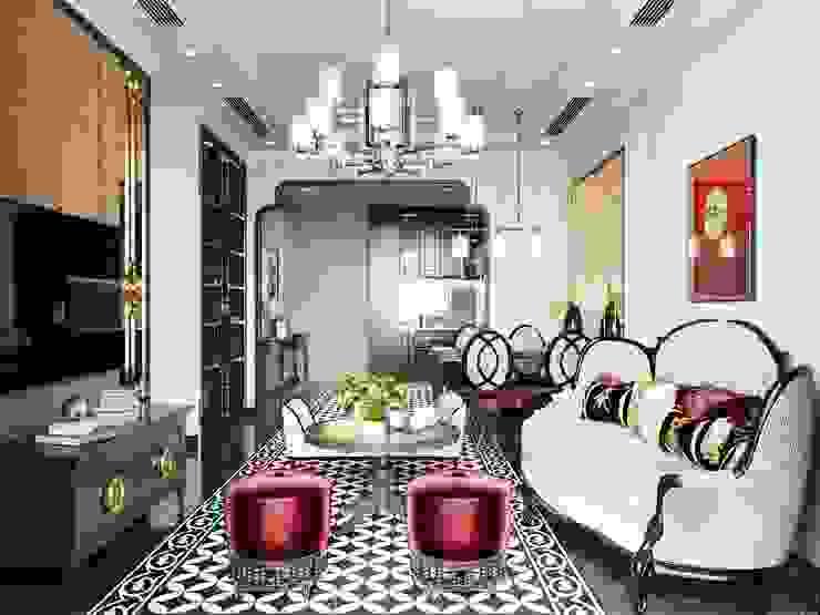 Гостиная в азиатском стиле от ICON INTERIOR Азиатский