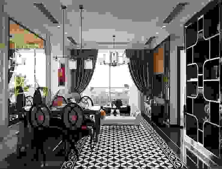 Nghệ thuật thiết kế nội thất – Phong cách cho người nghệ sĩ Phòng ăn phong cách châu Á bởi ICON INTERIOR Châu Á