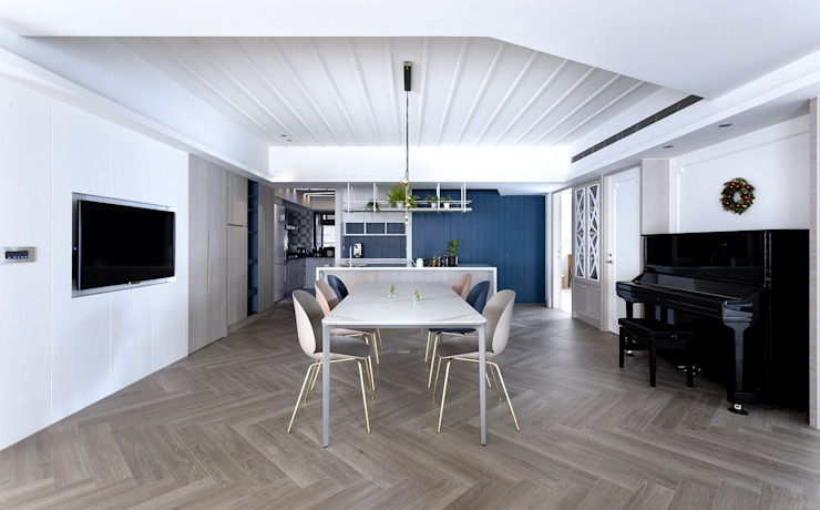 老屋翻新 北歐風 現代風 美式風格: 斯堪的納維亞  by 伊家室內設計, 北歐風